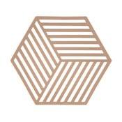 Suport din silicon pentru vase fierbinți Zone Hexagon, portocaliu