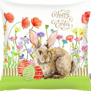 Povlak na polštář Apolena Easter Eggs With Rabbit, 43x43cm