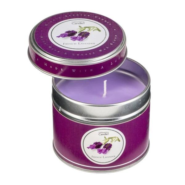 Aroma svíčka v plechovce s vůní levandule Copenhagen Candles, doba hoření 32 hodin