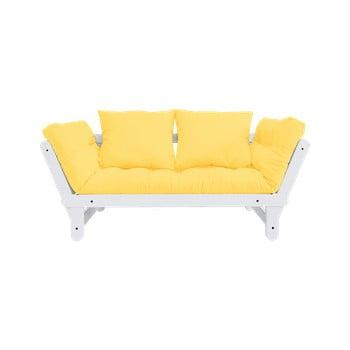 Canapea extensibilă Karup Design Beat White/Yellow de la Karup Design