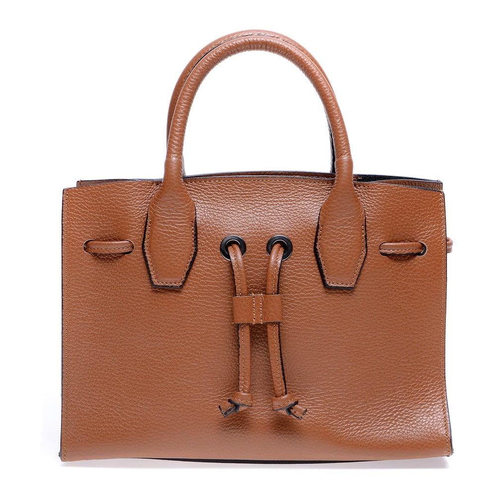 Hnědá kožená kabelka Roberta M Amalia