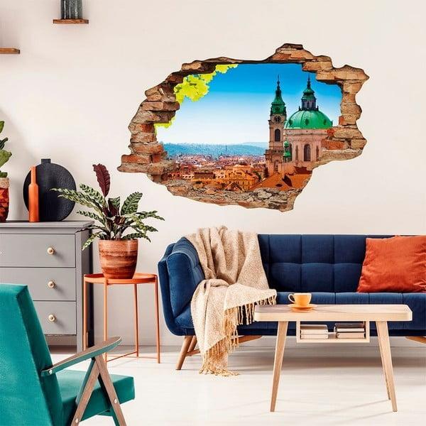 Autocolant perete 3D Ambiance Praga Malostranska, 90 x 60 cm