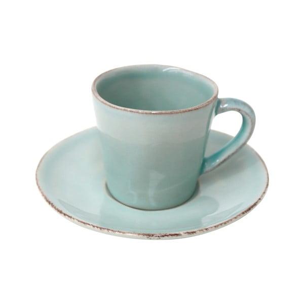 Tyrkysový keramický šálek na kávu s podšálkem Ego Dekor Nova,70ml