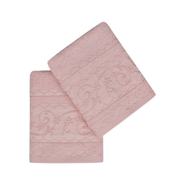 Sada 2 růžových ručníků Yosemine