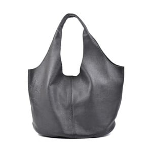 Černá kožená kabelka Carla Ferreri Rahno Jullo