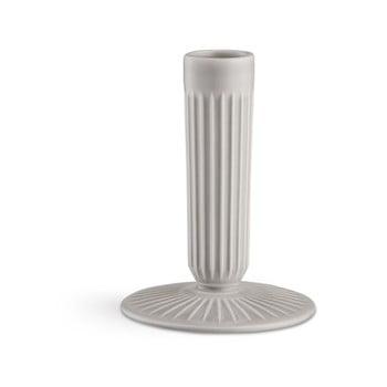 Sfeșnic din ceramică Kähler Design Hammershoi, înălțime 12 cm, gri deschis de la Kähler Design