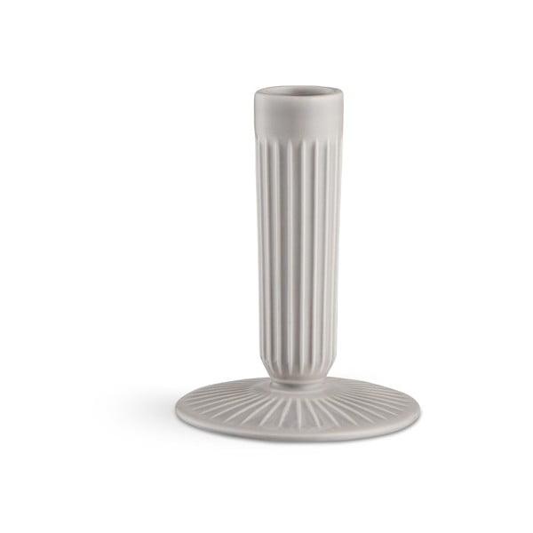 Světle šedý kameninový svícen Kähler Design Hammershoi, výška 12 cm