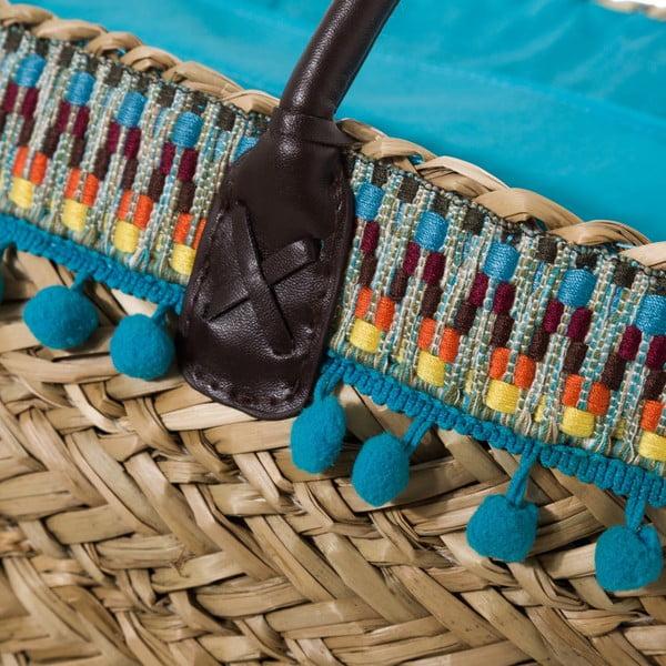 Modrá kabelka z přírodního vlákna Unimasa