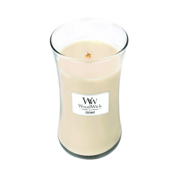 Vonná svíčka WoodWick Kokos, 609 g, 130 hodin