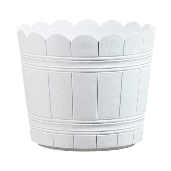Vysoce odolný květináč Country 35 cm, bílý