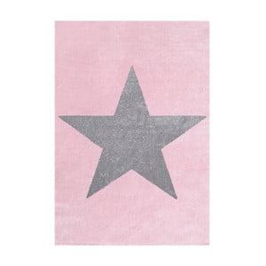 Růžovo-šedý dětský koberec Happy Rugs Superstar, 80x150cm