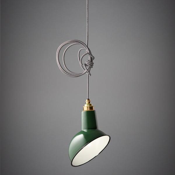Závěsné světlo Miniature Angled Cloche Green/Grey