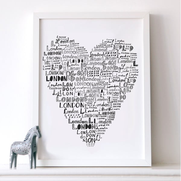 Plakát Karin Åkesson Design London Love, 30x40 cm