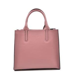 Růžová kožená kabelka Mangotti Erica