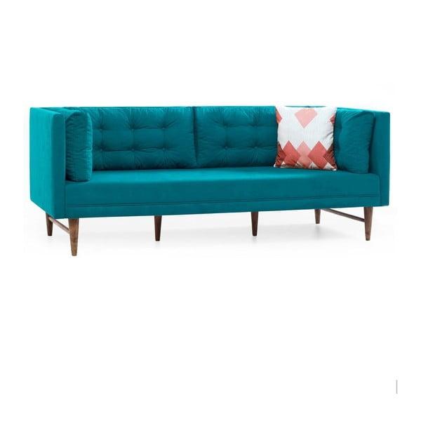 Canapea cu 3 locuri Balcab Home Eva, turcoaz