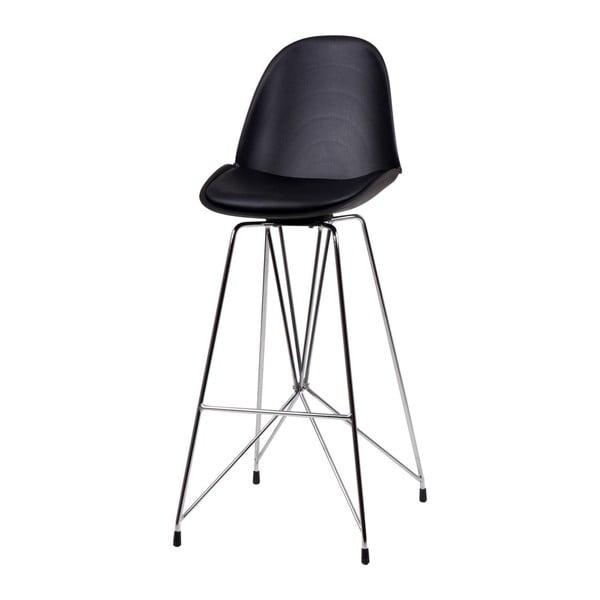 Čierna barová stolička sømcasa Brett