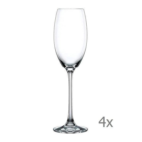 Sada 4 sklenic na šampaňské z křišťálového skla Nachtmann Vivendi Premium Champagne Flute Set, 272 ml