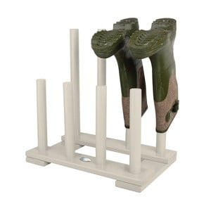 Bílý stojan na 4 páry bot z borovicového dřeva Esschert Design