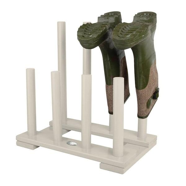 Suport din lemn de pin pentru 4 perechi de pantofi Esschert Design, alb