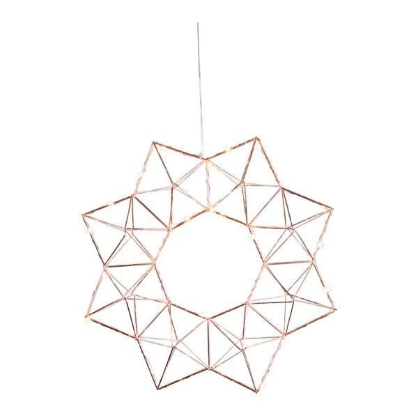 Měděná LED světelná dekorace Best Season Edge, ø 30 cm