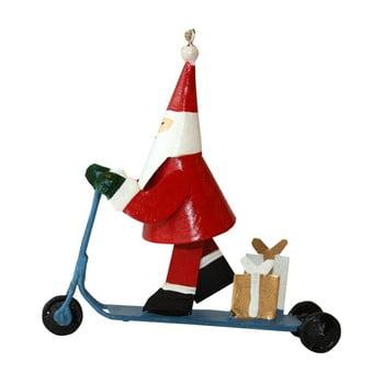 Decorațiune suspendată pentru Crăciun G-Bork Santa on Scooter imagine