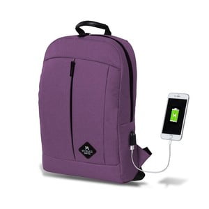 Fialový batoh s USB portem My Valice GALAXY Smart Bag
