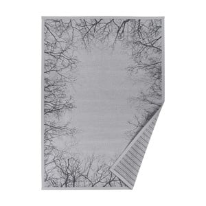 Šedý vzorovaný oboustranný koberec Narma Puise, 70x140cm