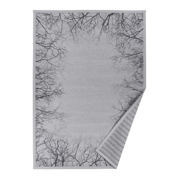 Puise szürke mintás kétoldalas szőnyeg, 70 x 140 cm - Narma