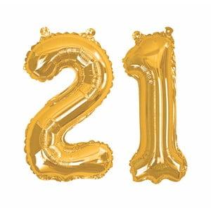 Balónek s číslem 21 Neviti Gold