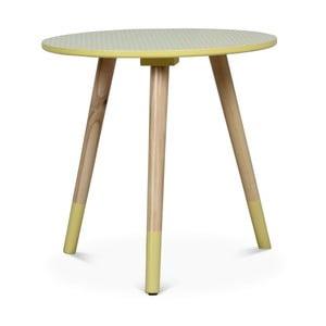 Žlutý příruční stolek Opjet Vick