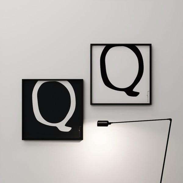 Plakát Litera Q, 50x50 cm