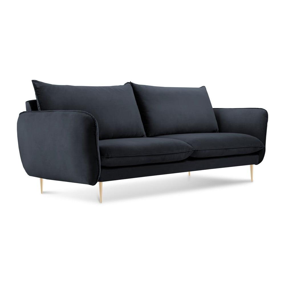 Antracitově šedá pohovka se sametovým potahem Cosmopolitan Design Florence Cosmopolitan design