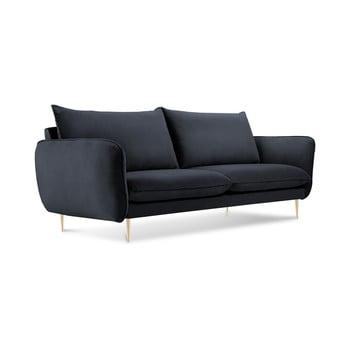 Canapea cu tapițerie din catifea Cosmopolitan Design Florence, gri antracit