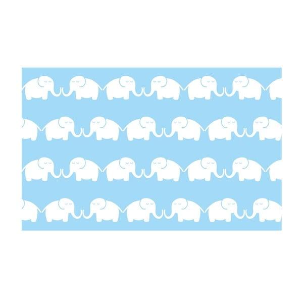 Vliesová tapeta Elephants 270x46.5 cm, modrá