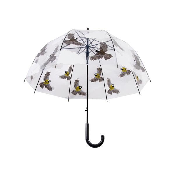 Umbrelă transparentă Esschert Design Birds, ⌀ 80,8 cm