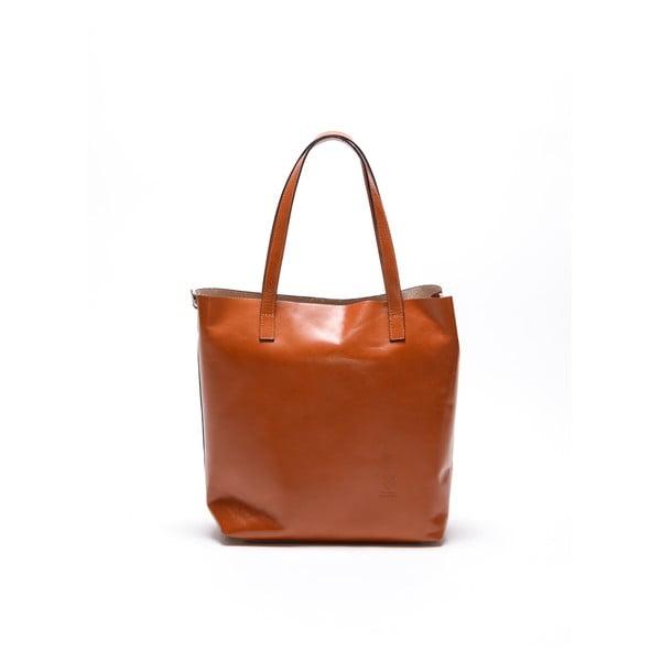 Kožená kabelka Renata Corsi 3001 Cognac