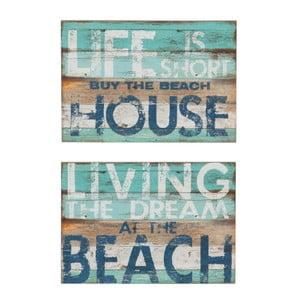 Set 2 decorațiuni de perete J-Line Beach Living