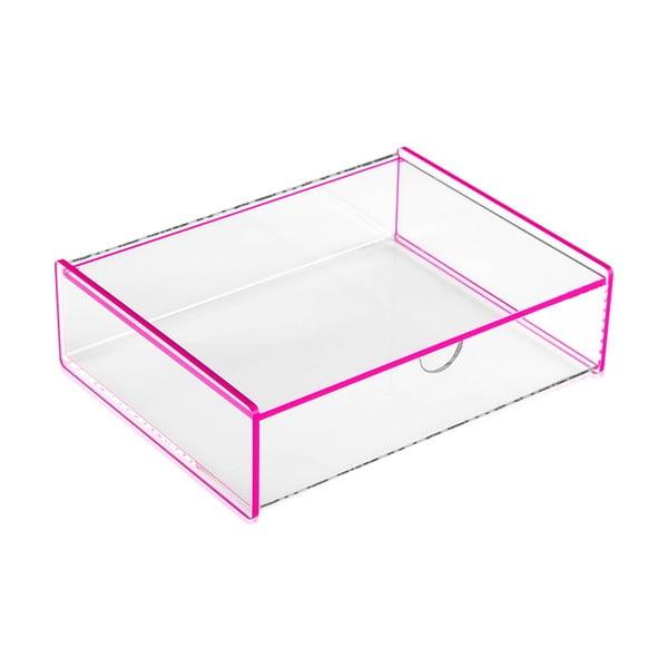Ariel rózsaszín tárolódoboz, 17,1 x 13 x 4,8cm - Versa
