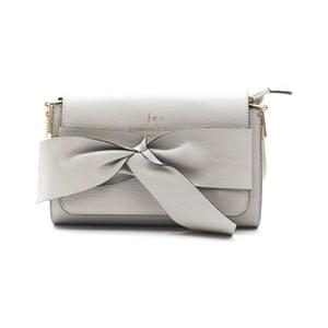Šedá kožená kabelka f.e.v. by Francesca E. Versace Calima