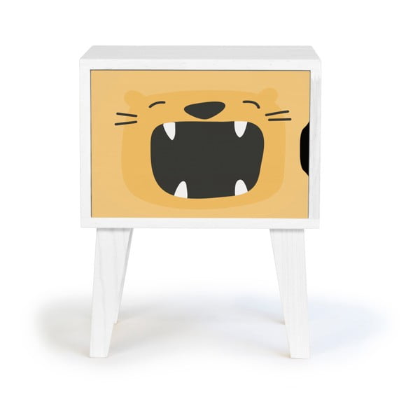 Dětský dřevěný noční stolek Little Nice Things Roar