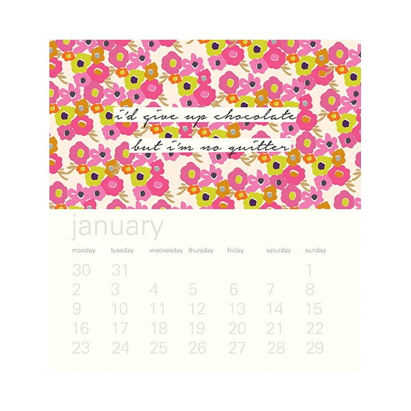 Stolní kalendář Portico Designs Ditsy