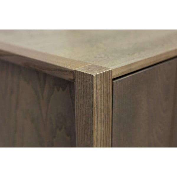 Tmavá šatní skříň z masivního dřeva Woodman Woody