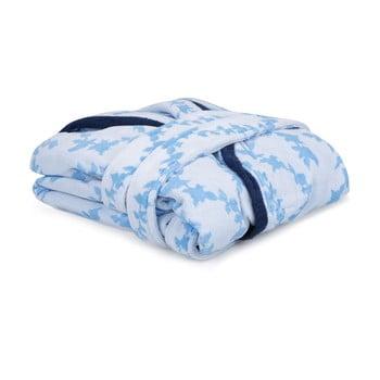 Halat De Baie Unisex Lerry, Marimea S, Alb-albastru