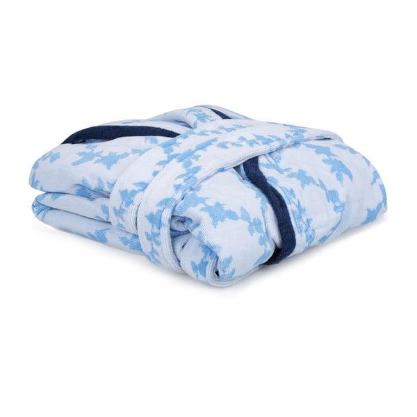 Niebiesko-biały szlafrok unisex Lerry, rozmiar S