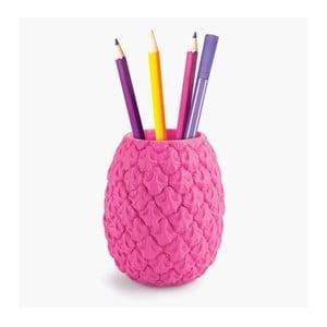 Růžový stojánek na tužky Just Mustard Pineapple
