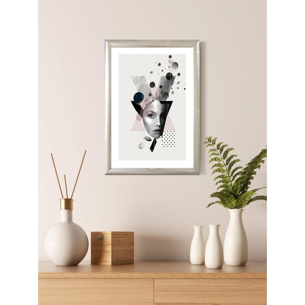 Nástěnný obraz v rámu Piacenza Art Fashion Portrait, 23 x 33 cm