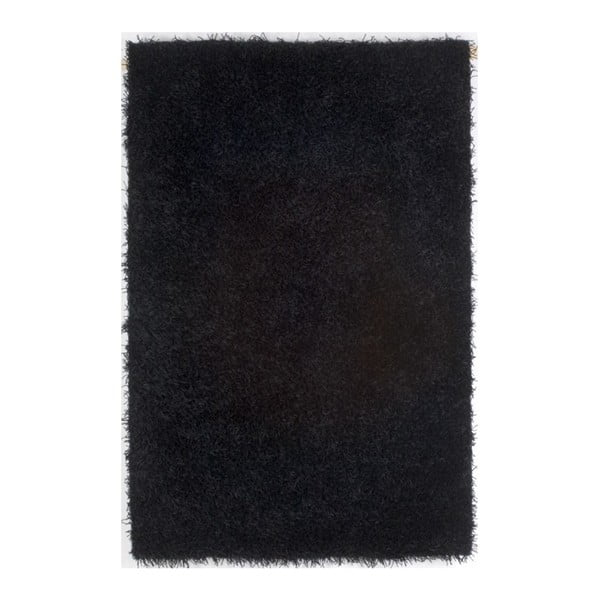 Koberec Spaghetti Black, 70x140 cm