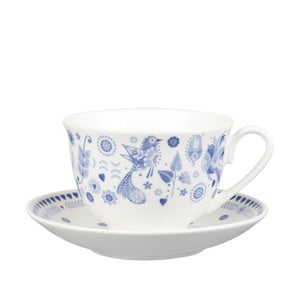 Set 2 căni cu farfurioare Churchill China, 200 ml