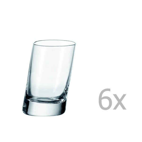 Sada 6 sklenic na kořalku LEONARDO Pisa, 55 ml