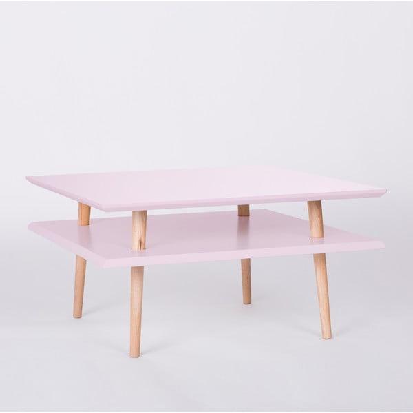 Růžový konferenční stolek Ragaba Square, 68x68cm
